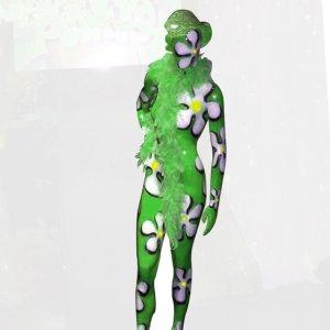 Mannequin fleuri vert