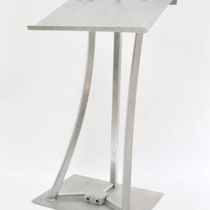 Lutrin d'aluminium avec tronc courbé