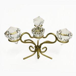 Centre de table or avec diamants