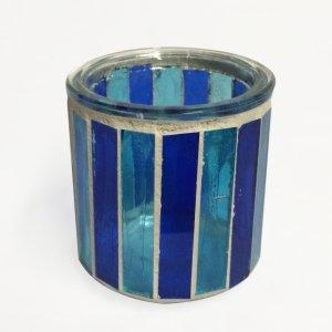 Porte bougie bleu/turquoise