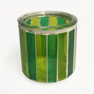 Porte bougie vert