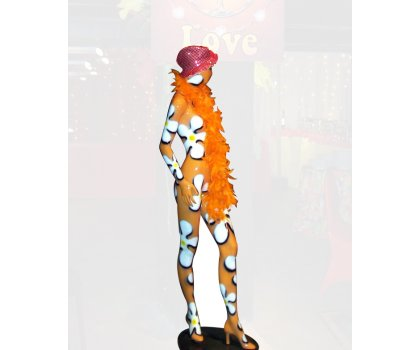 Mannequin fleuri orange