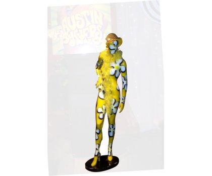 Mannequin fleuri jaune