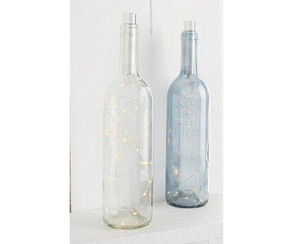 Bouteille de verre décorative DEL