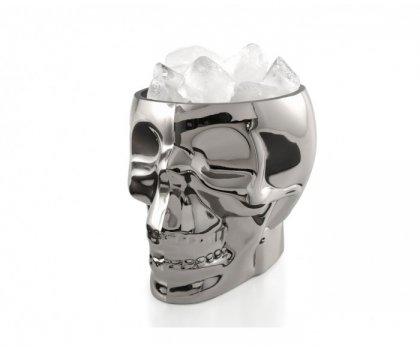 Crâne en verre décoratif