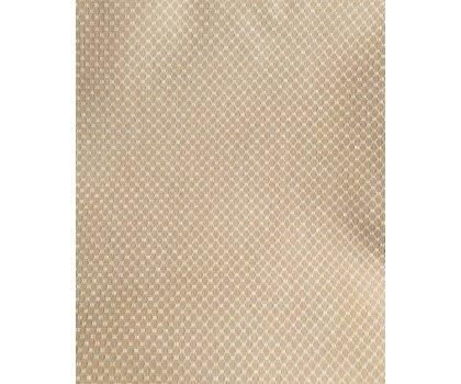 Sur-nappe beige à motifs blancs