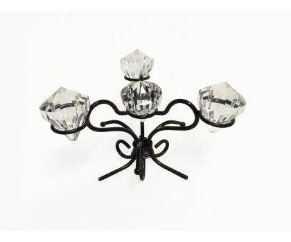 Centre de table noir avec diamants