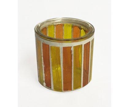 Porte bougie orange/jaune