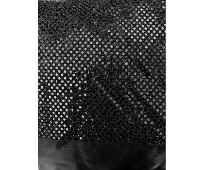 Nappe noire brillante de style baroque