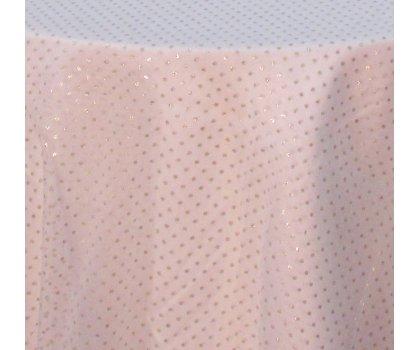 Sur-nappe rose pâle avec brillants or