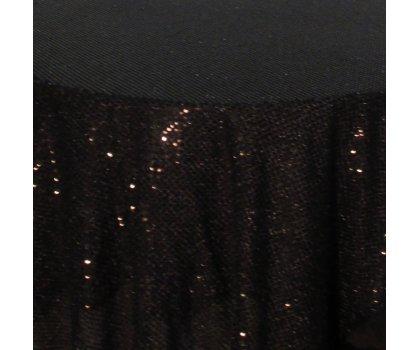 Sur-nappe noire brillante